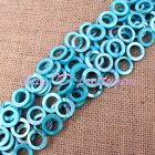 15mm Natural Coin Ring Shell Mop Gemstone Beads For Jewelry Making Strand 14""