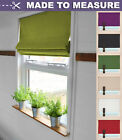 MADE TO MEASURE ROMAN BLIND  - EASY FIT & CUSTOM MADE - MANY SIZES AND COLOURS