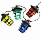 40 Multi Coloured Christmas Party Barbecue Lights with Lantern Style Shade 11m