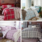 Catherine Lansfield Kelso Tartan Check Cotton Rich Duvet Quilt Cover Bedding Set
