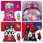 Mickey Mouse Single/Double/Queen Bed Quilt/Doona/Duvet Cover Set New 100%Cotton