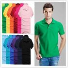 Men Short Sleeve Lapel POLO Shirt Solid Tee Blouse Tops T-shirt M-3XL 16Colors