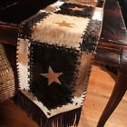 New Cowhide Table Runner Leather Mad Cow Town Hide Animal Skin Patchwork RR1