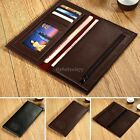 ItS7  Men Long Leather Wallet Pockets Card Clutch Center Bifold Money Clip Purse
