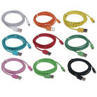Braided 8Pin For iPhone 5 5S 5C iPod Charger Cable USB  Sync Data 1M/2M/3M Lead