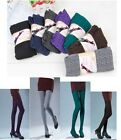 Latest Women's Cotton Knitted Warm Solid Color Leggings Tights Pants 4Colors