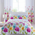 Catherine Lansfield Floral Bloom White Pink Yellow Duvet Quilt Cover Bedding Set