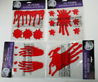 Halloween Bloody Window Gel Clings Props 4 Different Styles Your Choice NEW
