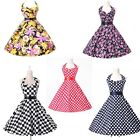 LONDON FAST RETRO STYLE COTTON PINUP 1950s ROCKABILLY SWING VINTAGE FLORAL DRESS