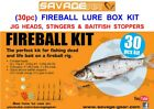 SAVAGE GEAR 30pc FIREBALL TACKLE BOX KIT FOR PIKE LIVE DEAD BAIT LURE TRACE RIGS