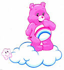 "5-8"" CARE BEARS CHEER BEAR CLOUD CHARACTER WALL SAFE STICKER BORDER CUT OUT"