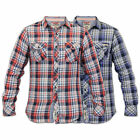 Mens Checked Shirts Tokyo Laundry Tartan Slim Fit Cotton Collared Long Sleeved