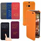 NEWEST Dot View Designed Interactive Flip Smart Cover Case Folio For HTC One M8