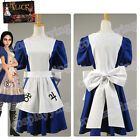 American McGee's Alice Liddell Cosplay Costume Madness Returns Maid Dress Apron