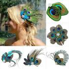 Peacock Feather Rhinestone Hairpin Hair Clip Dance Party Wedding Hair Wear A14