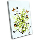 Abstract Butterfly Illustration SINGLE CANVAS WALL ART Picture Print VA