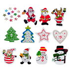 50PCs Christmas Pattern Wooden Buttons Fit Sewing and Scrapbook