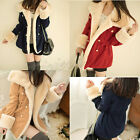 Korean Winter New Fashion Slim Warm Double-breasted Wool Jacket Womens Coat HOT