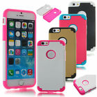 New Hybrid Combo Rugged Rubber Matte Hard Case Cover For iPhone 6 4.7'' & Film