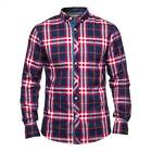MISH MASH SHIRT CARBON MENS RED CHECK DESIGNER TOP
