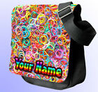 LOOM BANDS PERSONALISED SHOULDER / HAND BAG *Choice of 3 colour's* GREAT GIFT !