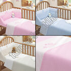 3 PIECE NURSERY BABY QUILT DUVET COVER COT BED SET BUMPER SHEET PINK BLUE NEW