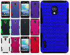 LG Optimus F7 US780MESH Hybrid Silicone Rubber Skin Protector Case Phone Cover