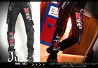 PUNK rock heavy metal Butcher chamber work carpenter trousers w/ suspender GA203