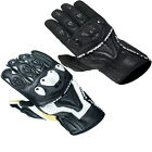 ARMR MOTO SHL445 MENS SHORT ARMOURED MOTORCYCLE MOTORBIKE STREET RACE GLOVES