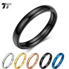 Glossy Tt 2mm Slim S.steel Band Pinky Ring Size 2-11 5 Colours (r345)  New