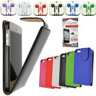 For Apple Leather Flip Cover Case Sleeve Pouch iPhone 6 5 5S 5C 4S iPod Touch 5