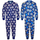 Chelsea FC Official Football Gift Boys Kids Pyjama Onesie Blue (RRP £14.99)