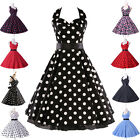 FAST DELIVERY Tea Length New 60s Rockabiily Vintage Pin Up Evening Prom Dress NL