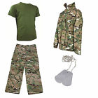 Kids Pack 5 HMTC MTP MultiCam Match - Camo Pants, Shirt + Tee With FREE Dog Tags