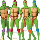 Mens Teenage Mutant Ninja Turtle TMNT 2nd Skin Fancy Dress Costume Adult Outfit