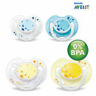 Avent Soothers Orthodontic Dummies Night Time Dummy *** 0 - 6 Months ***