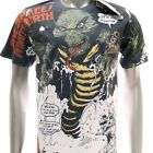 m248 Minute Mirth T-shirt Sz M L Tattoo Classic Skull Snake Anaconda Men Fashion