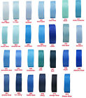 "10y 25y 22mm 7/8"" Blue Shades Grosgrain Ribbon Wedding Eco Quality CLEARANCE"
