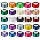 "1 Roll 25 Yards Satin Ribbon Craft 1.5"" 38mm Wide Bow Wedding Party Supply"