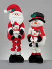 89 cm Standing Christmas Decoration Fabric snowman or Santa with baby snowman