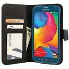 Black Flip Case for Samsung Galaxy S5 Sport PU Leather Wallet Cover and Stand