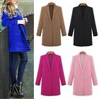 Elegant Women Cashmere Wool Long Winter Parka Dust Coat Trench Outwear Jacket KZ