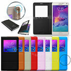 Slim Book Flip View PU Leather Case Cover Pouch for Samsung GALAXY NOTE 4 2014
