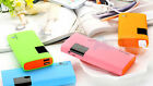 50000mAh LCD Portable 2 USB Power Bank Battery Charger Backup For Samsung iPhone