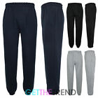 Mens Plain Cotton Pants Mens Fleece Lined Thick Jogging Bottoms Trousers M-XXL