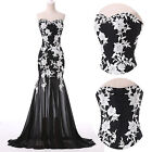 Applique Lace Mermaid Prom Party Bridesmaid Formal Gown Evening Long Dress NEW~