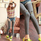 2014 Warm WinterCute Kitty Beard Embroidered Leggings Casual Pants UKEW