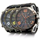 Men's Formal Big Dial Sports Quartz Steel Silicone Band V6 Wrist Watch 4 Colors