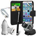 6 in 1 Accessory Pack Leather Wallet Flip Card Slot Case For Apple Iphone 6 Plus