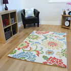 Thick Wool Multi Coloured Modern Rug High Quality Hardwearing Living Room Rugs